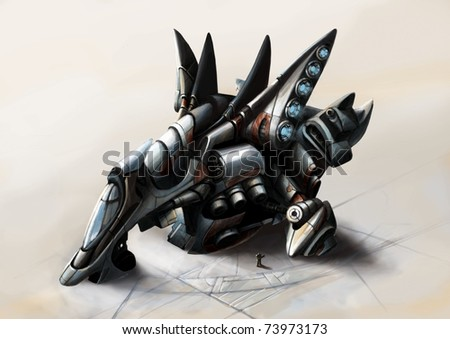 Spaceship - stock photo