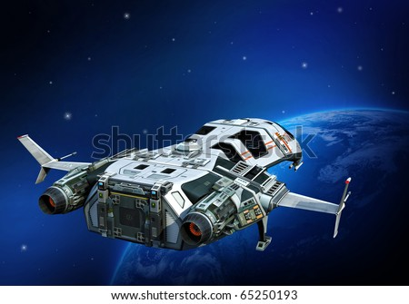 spaceship going home - stock photo