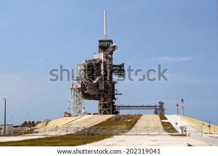 Spaceship launchpad, cape Canaveral - stock photo