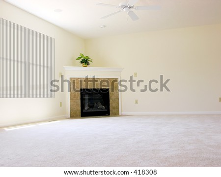 Spacious Empty Room in New House - stock photo