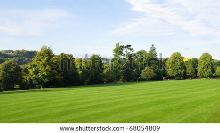 Spacious Green Park - stock photo