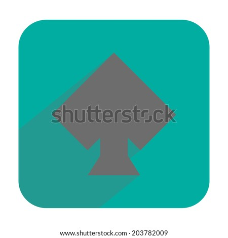 Spades icon - stock photo