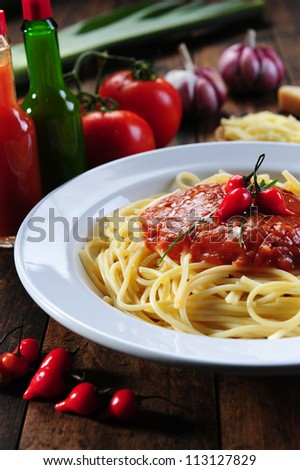 Spagetti a bolognese - stock photo