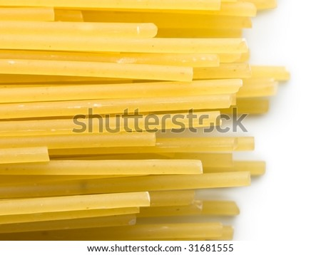 spaghetti ends isolated on white