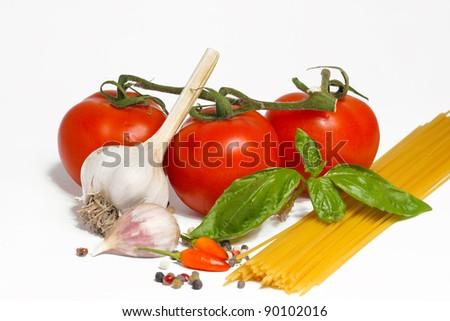 spaghetti ingredient - stock photo