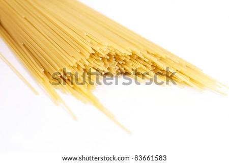 spaghetti, italian pasta - stock photo
