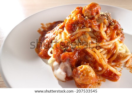 Spaghetti meatball - stock photo