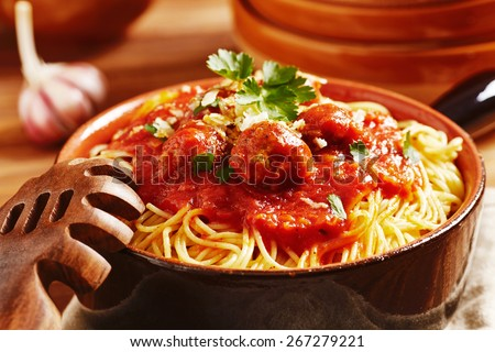 Curly pasta Stock Photos, Images, & Pictures | Shutterstock