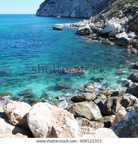 Spain, Alicante, Beautiful clear mediterranean water