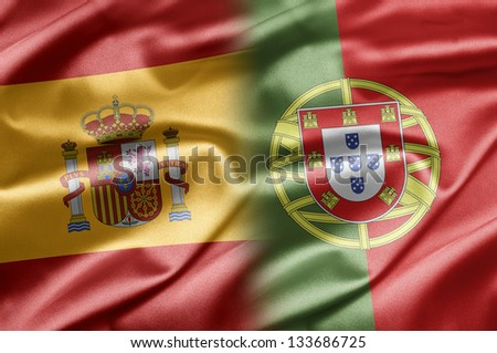 Spain and Portugal - stock photo