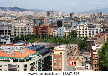 Spain. Barcelona. City landscape.
