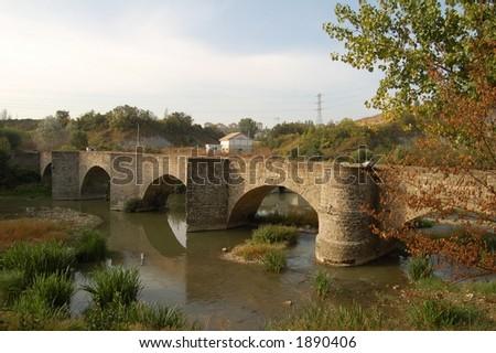 spain bridge - stock photo
