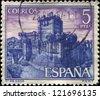 SPAIN - CIRCA 1967: A stamp printed in Spain shows Balsaveny Castle Coca, circa 1967 - stock photo