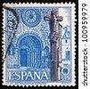 SPAIN - CIRCA 1967: a stamp printed in the Spain shows Betanzos Church, Iglesia de Santiago, Coruna, Galicia, Spain, circa 1967 - stock photo