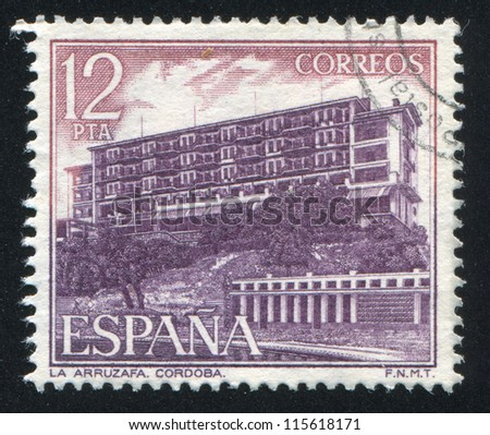 SPAIN - CIRCA 1976: stamp printed by Spain, shows La Arruzafa, Cordoba, circa 1976