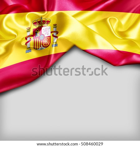 Spain Country Flag on white background
