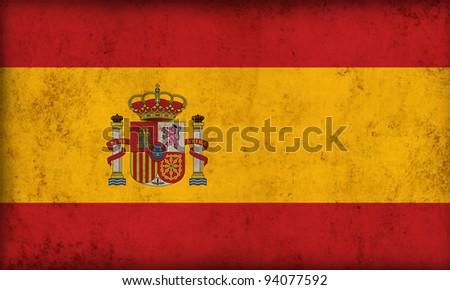 Spain flag background - stock photo