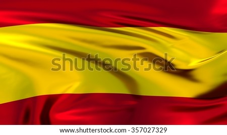 Spain Flag. 3d illustration