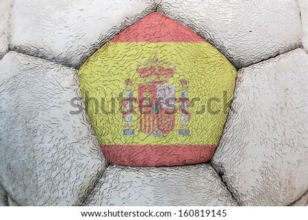 Spain flag football - stock photo