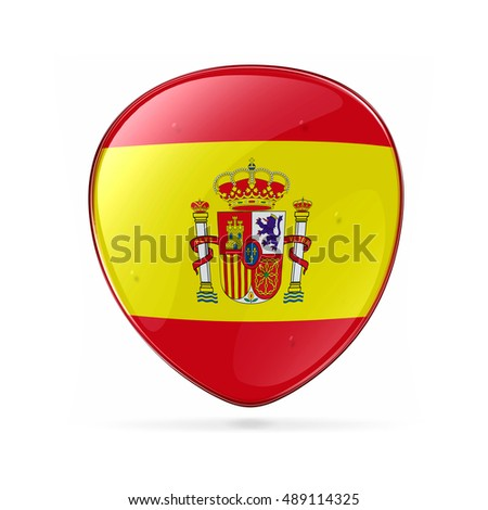 Spain Flag Icon, isolated on white background
