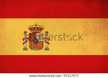 Spain grunge flag background - stock photo