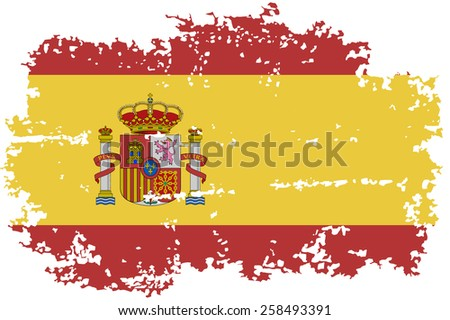 Spain grunge flag. Raster version - stock photo
