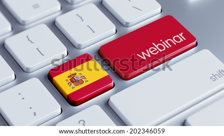 Spain High Resolution Webinar Concept - stock photo