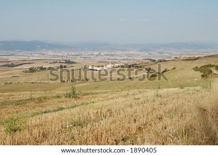 spain landscape - stock photo
