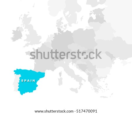 Belgium location modern detailed map all vectores en stock 438238621 spain location modern detailed map all european countries without names template of beautiful flat gumiabroncs Images