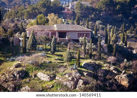 Spain Luxury Villa 1 - stock photo