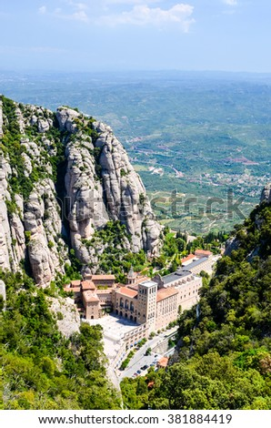 Spain monastery in mountains