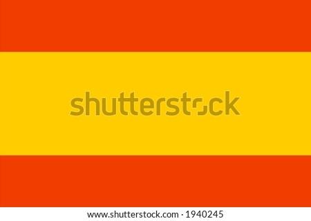 spain national flag - stock photo