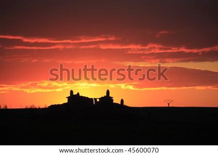Spain Sunset (horizontal) - stock photo