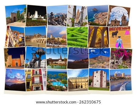 Spain travel images - nature and architecturet background (my photos) - stock photo