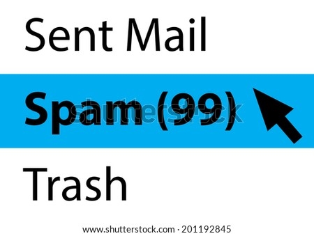 Spam Email Concept - stock photo