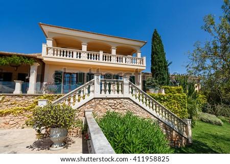 Spanich real estate of Mediterranean seashore, Mallorca  - stock photo