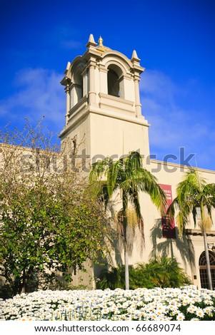 Spanish Architecture in Balboa Park in San Diego, California - stock photo