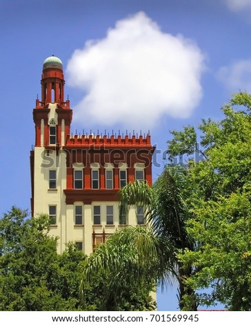 Spanish Architecture In Downtown Saint Augustine Florida One Of Many Landmarks The Area