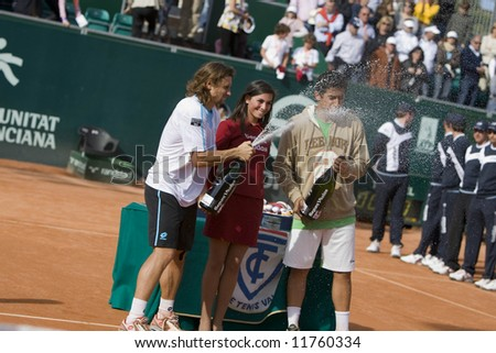 Spanish ATP Tour -Valencia City Open Tennis Championships 2008 - 2008.04.20 - Nicolas Almagro - David Ferrer - stock photo