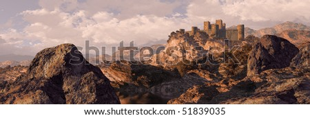 Spanish Castle Fortress - stock photo