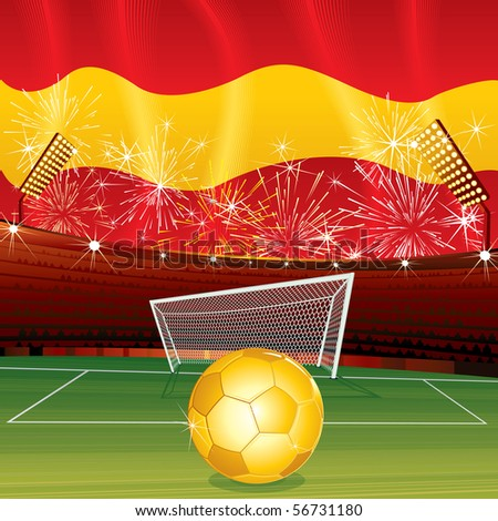 Spanish celebrating background - stock photo