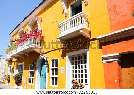 Colorful House Exterior Stock Images RoyaltyFree Images - Caribbean house colors exterior