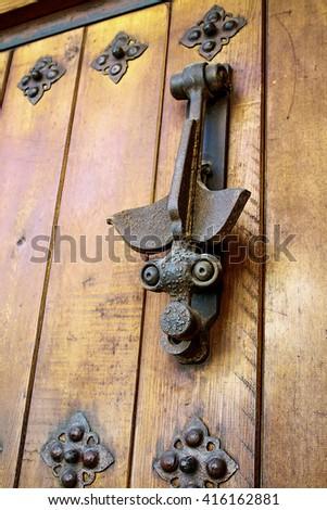 Spanish door knocker - stock photo