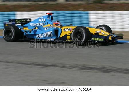 Spanish driver Fernando Alonso. Renault. 2005 Formula 1 World Champion. - stock photo