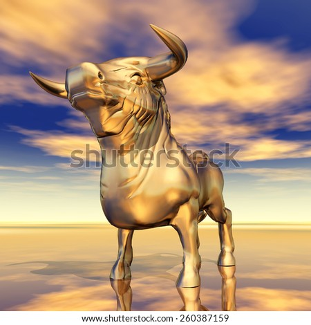 Spanish Fighting Bull Computer generated 3D illustration - stock photo