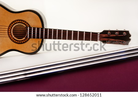 spanish guitar - stock photo