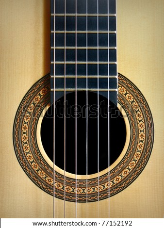Spanish guitar background - stock photo