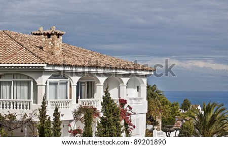 Spanish luxury villa. Fragment