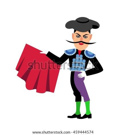 Spanish Matador Cartoon Clipart Stock Illustration ...