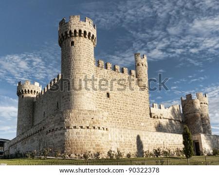 Spanish medieval castle - stock photo